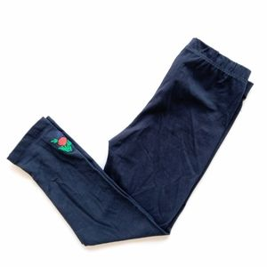 Other - Navy Blue Rose Embroidered Leggings